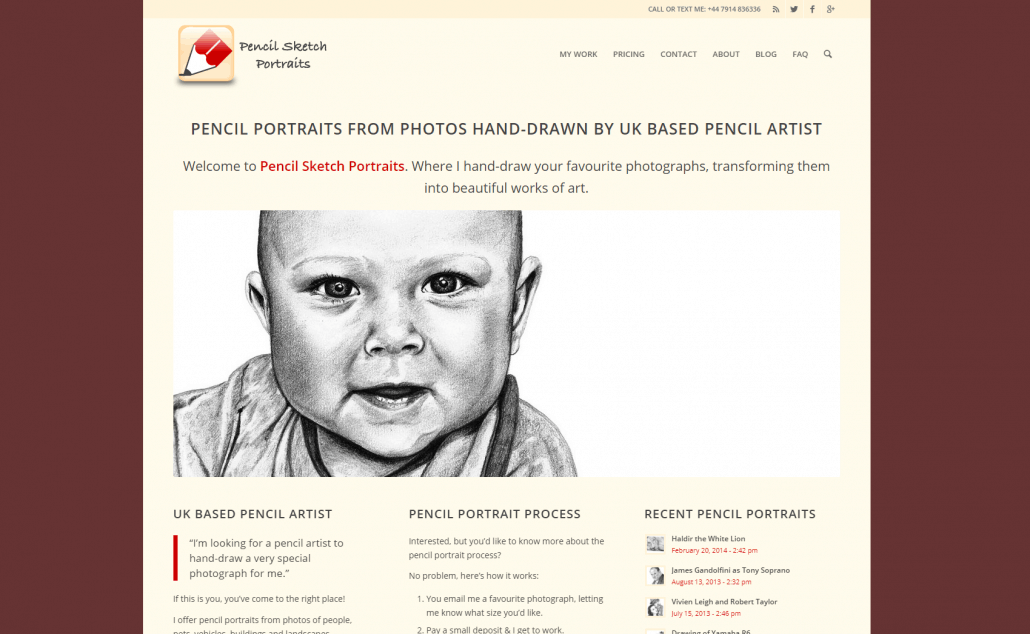 Pencil Sketch Portraits Website