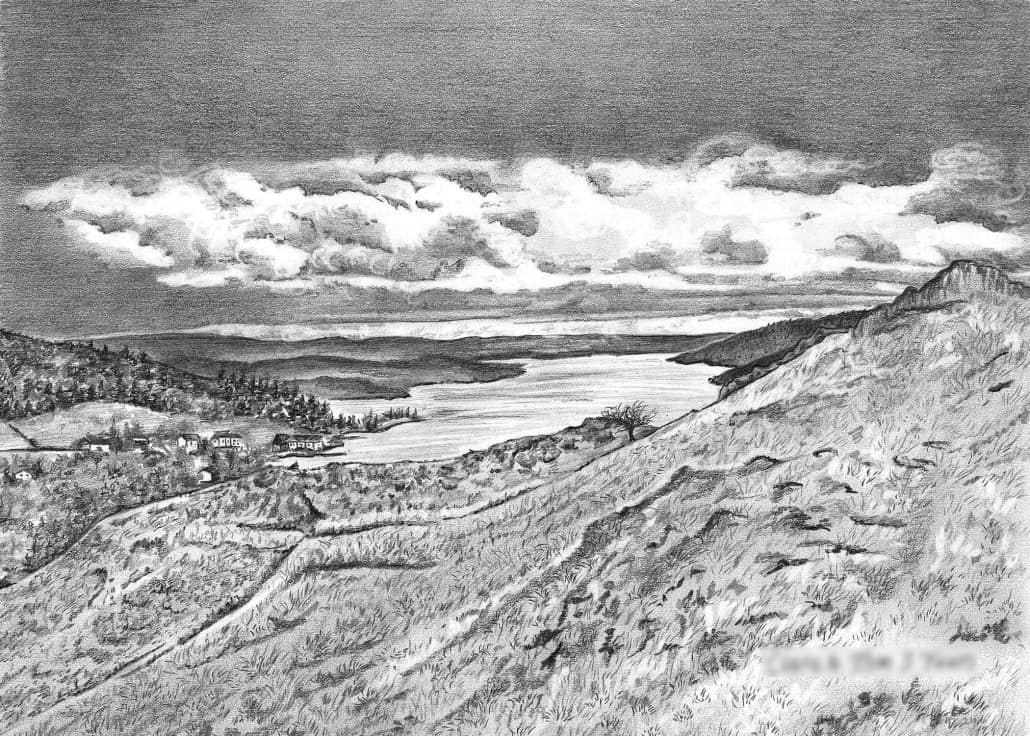 Pencil Drawing of Landscape