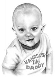 Pencil Drawing of Baby Boy | Pencil Sketch Portraits
