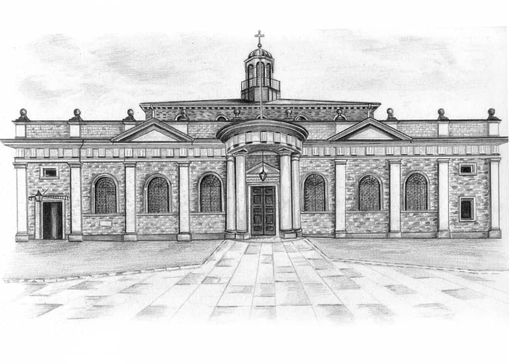 Pencil Drawing of Brentwood Cathedral