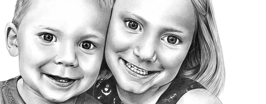 Drawing of Brother and Sister