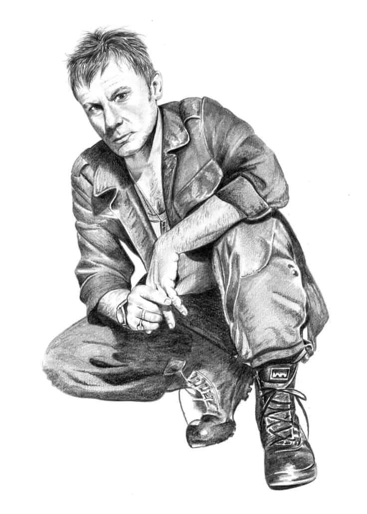 Pencil Portrait of Bruce Dickinson