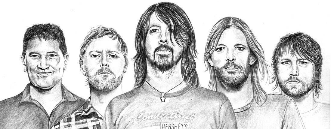Drawing of Foo Fighters