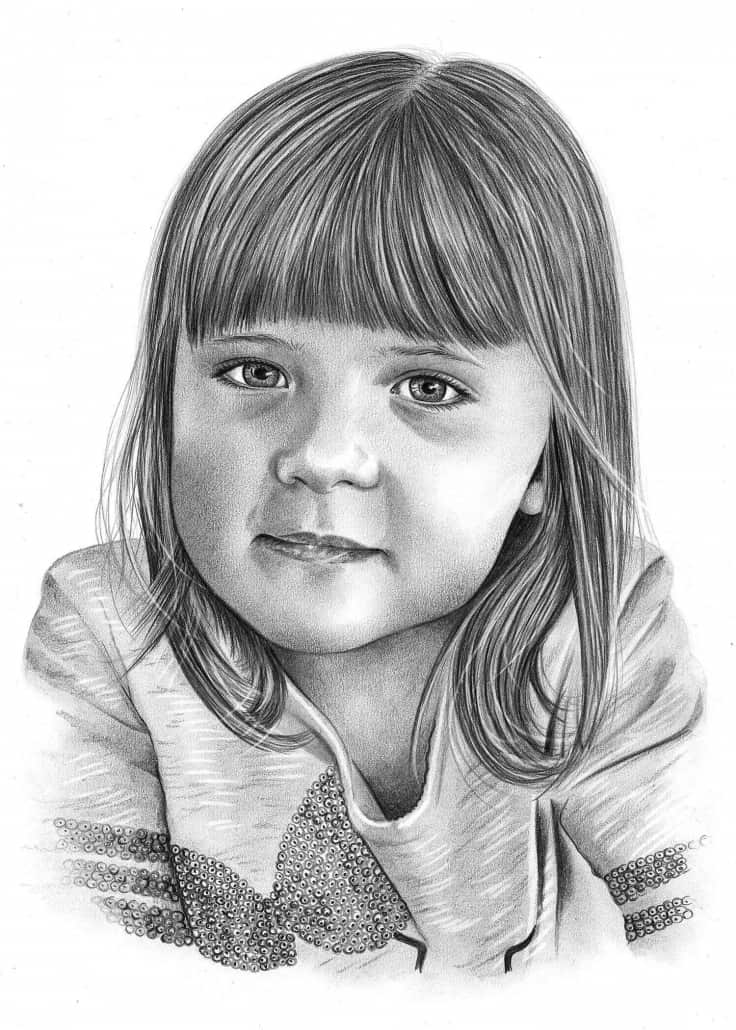 Pencil Sketch of Girl