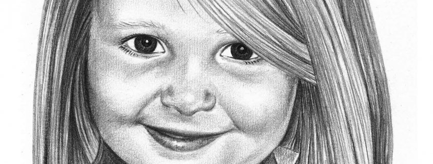 Portrait Drawing of Girl