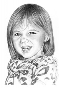 Pencil Portrait of Granddaughter