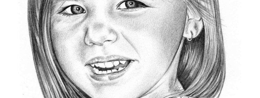 Pencil Portrait of Granddaughter