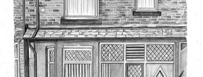 Pencil Portrait of House