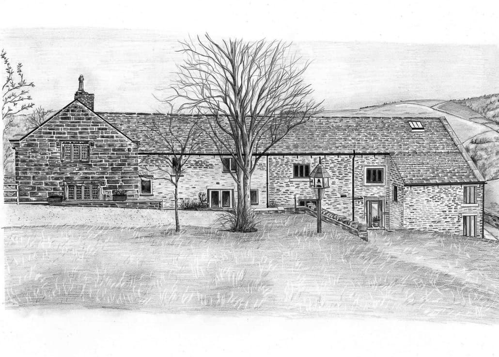 Portrait Sketch of House