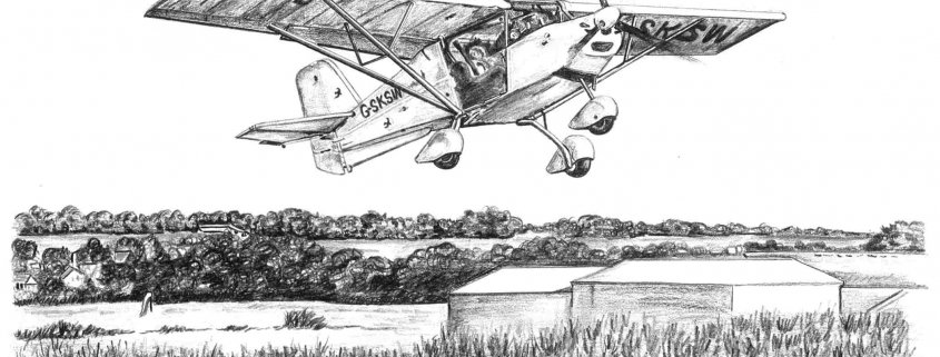 Pencil Drawing of Microlight G-SKSW