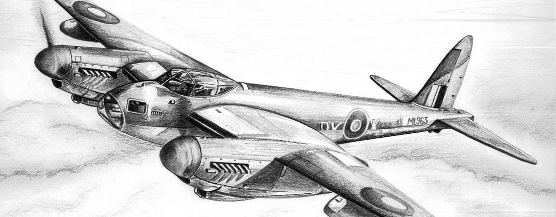 Drawing Slide of de Havilland Mosquito