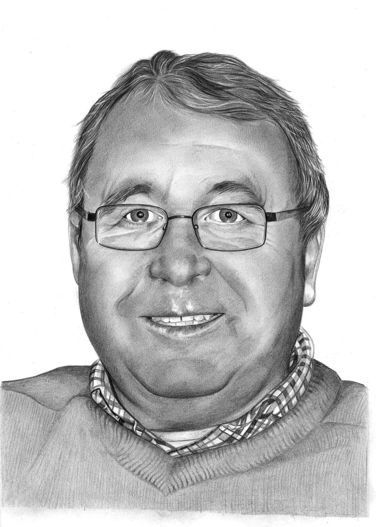 Pencil Portrait of Older Man