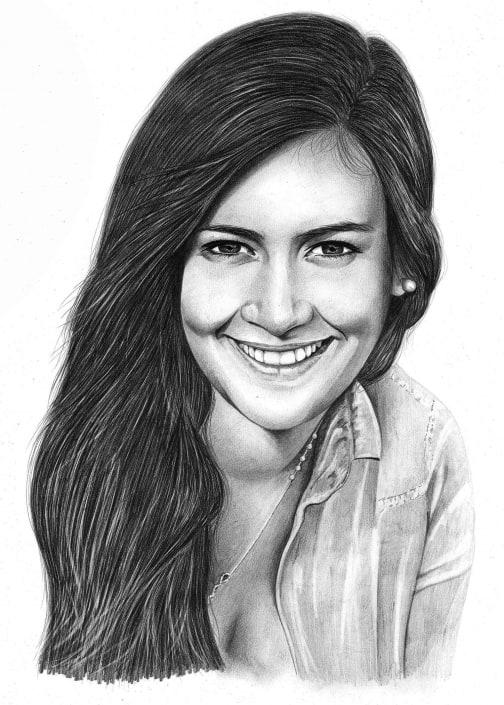 Pencil Portrait of Woman