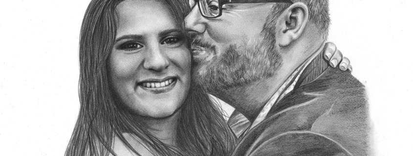 Pencil Portrait of Man and Woman
